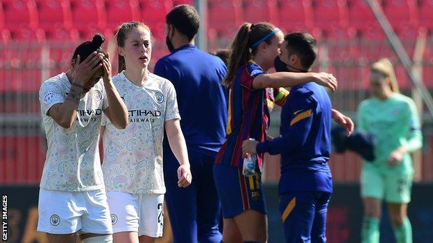 Manchester City have not reached the semi-finals of the Women's Champions League since 2017-18