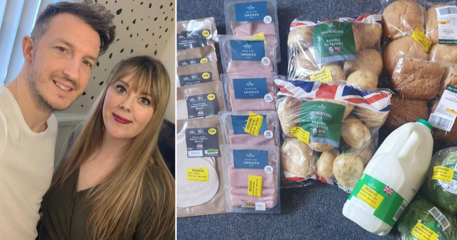 Mum does yellow sticker shopping to save up for wedding