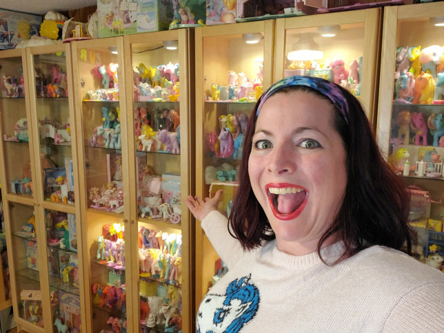 My Little Pony super fan Stephanie Nasello has in her collection 4,500 toy horses worth an estimated