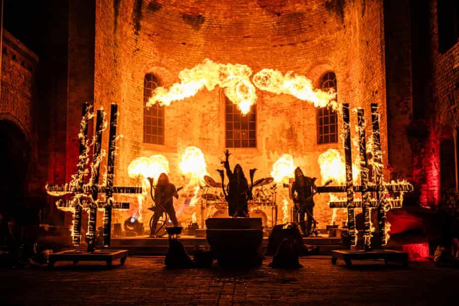 Behemoth performing live.