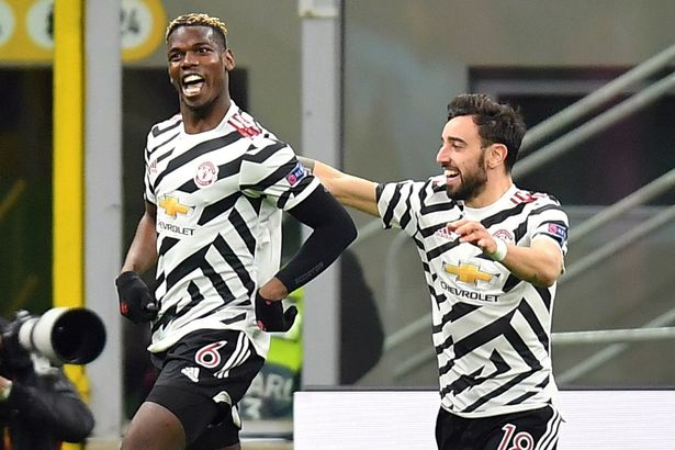 Paul Pogba scored United's winner away to AC Milan and book their Europa League quarter-final place.