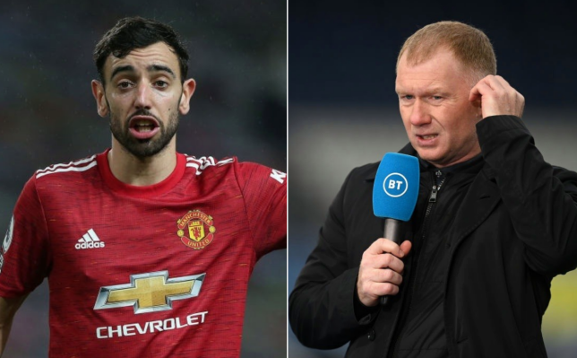 Paul Scholes says Bruno Fernandes shouldn't be Premier League Player of the Year