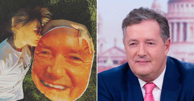 Piers Morgan's wife proved she was his biggest fan in her latest Instagram picture (Picture: Celia Walden Instagram/ITV)