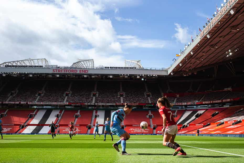 A view of the action at Old Trafford.