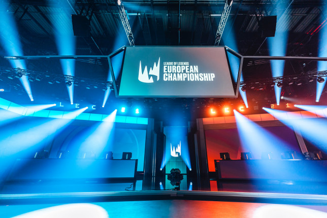 The LEC stage ready for a match