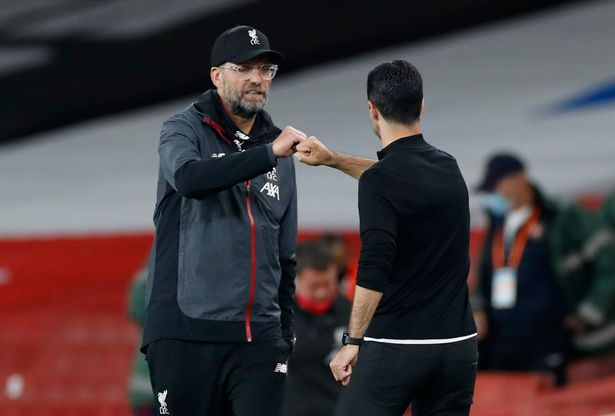 Mikel Arteta and Jurgen Klopp are aiming to chase down their rivals in the race for European football next season