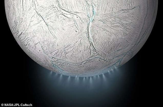 The outer shell of Enceladus