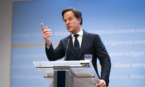 COVID-19 Ministerial Committee meeting, The Hague, Netherlands - 08 Mar 2021<br>Mandatory Credit: Photo by Hollandse Hoogte/REX/Shutterstock (11791595ay) Outgoing Prime Minister Mark Rutte explains the corona measures. COVID-19 Ministerial Committee meeting, The Hague, Netherlands - 08 Mar 2021