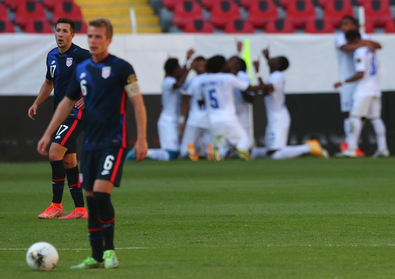 Soccer-U.S. men's team 'devastated' at failing to qualify for Olympics: coach