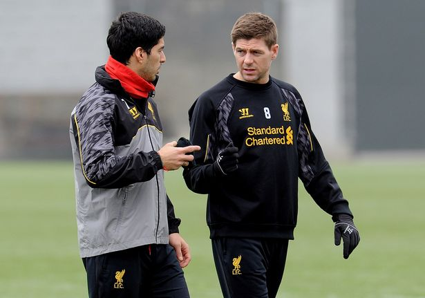 Steven Gerrard told Luis Suarez to stay at Liverpool for another season