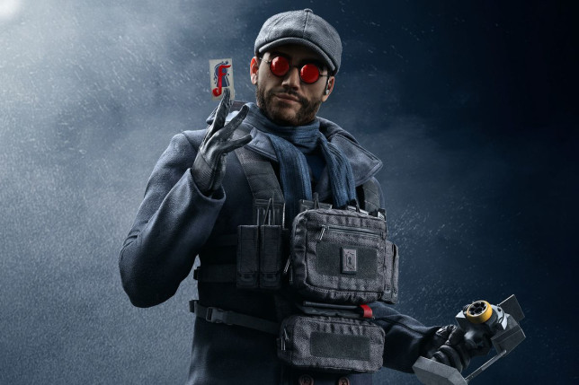 A character from the Rainbow Six Siege video game