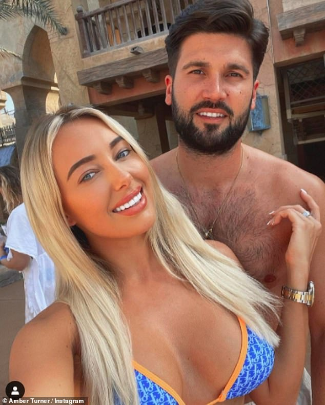 Baby fever: Amber's post comes after she shocked fellow TOWIE stars when she claimed she was 'going to be a mother soon' while discussing her relationship with Dan Edgar (pictured)