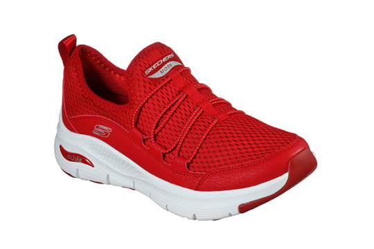 Skechers ArchiFit trainer in red