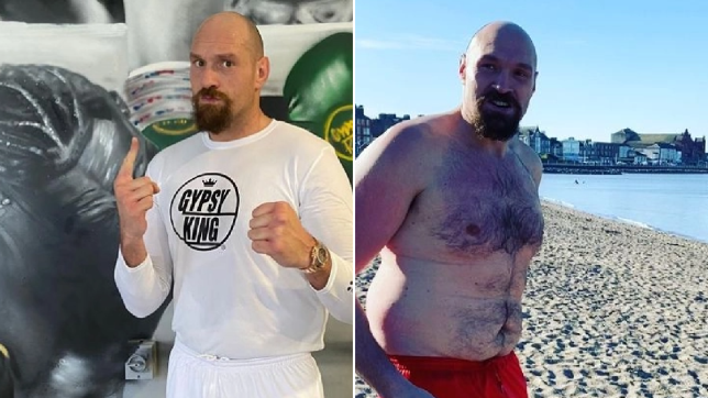 Tyson Fury shows off lean and mean new physique ahead of Anthony Joshua fight