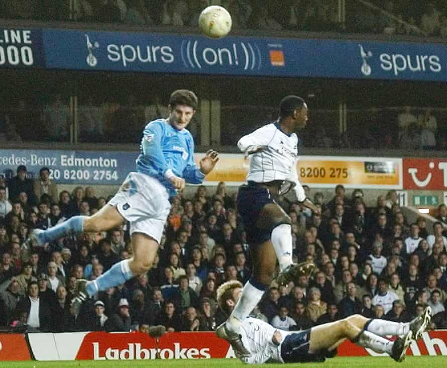 Jon Macken heads home to complete City's comeback in February 2004.