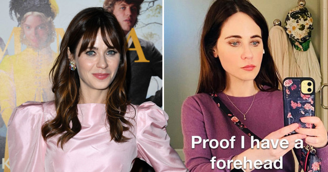 Zooey Deschanel without fringe