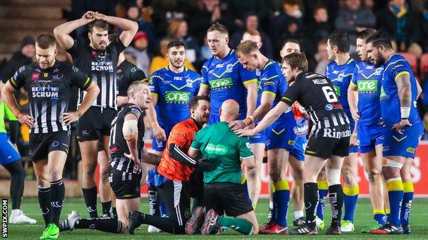 Widnes forward Chris Houston got a two-game ban following the incident that forced Phil Bentham to quit as a referee with a neck injury in 2018