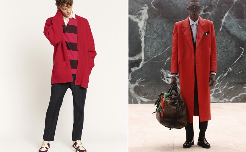 Fall 2021 menswear trend: red