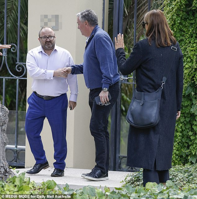 Arrival: Dressed in dark clothing,Eddie and Carla were visibly devastated