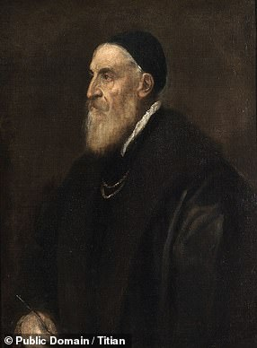 Pictured: a self-portrait of Titian
