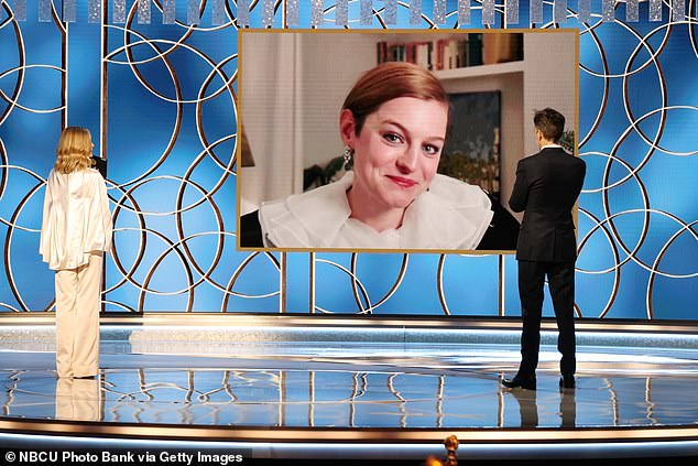 Emma beat costar Olivia Colman, Killing Eve's Jodie Comer, Ozark's Laura Linney and Ratched's Sarah Paulson in the best actress in a TV drama category