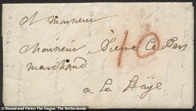 The letter, dated July 31, 1697, was a request from Jacques Sennacques to his cousin, a French merchant in the Hague, for a copy of a death notice for another man