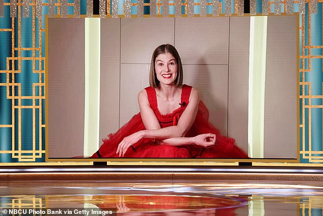 English Rose: Another UK-born actress, Rosamund Pike, who stars in Netflix hit I Care A Lot, took home the gong for Best Performance by an Actress in a Motion Picture, Comedy or Musical