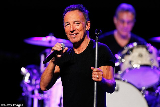 Springsteen (pictured at Perth Arena in 2014)recalled Gudinski's 'deep rumbling voice' and said he'd never forget the way he would say, 'Bruce, I've got you covered'