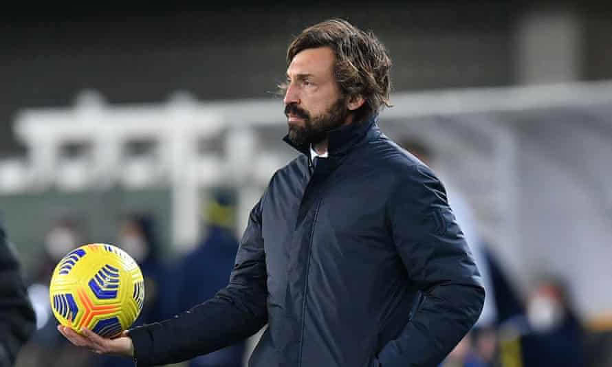 Andrea Pirlo lost his patience with a TV reporter after the draw on Saturday evening.