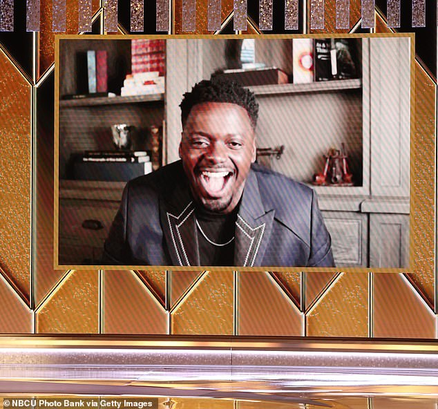 Congratulations:At the start of the ceremony, Daniel Kaluuya, 32, took home the first award for Best Performance by an Actor in a Supporting Role in Any Motion Picture for his role as Fred Hampton in Judas and the Black Messiah