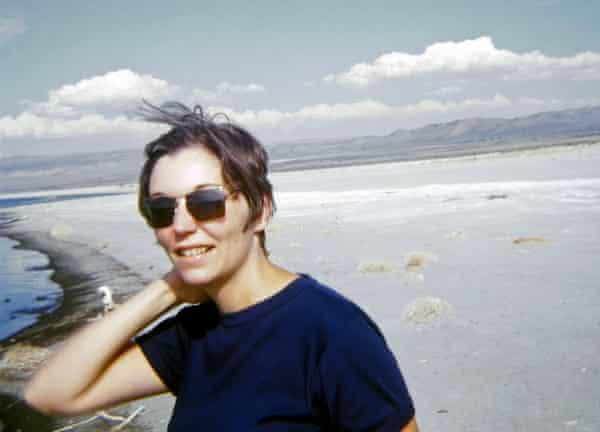 Nancy Holt at Mono Lake, California, in 1968.