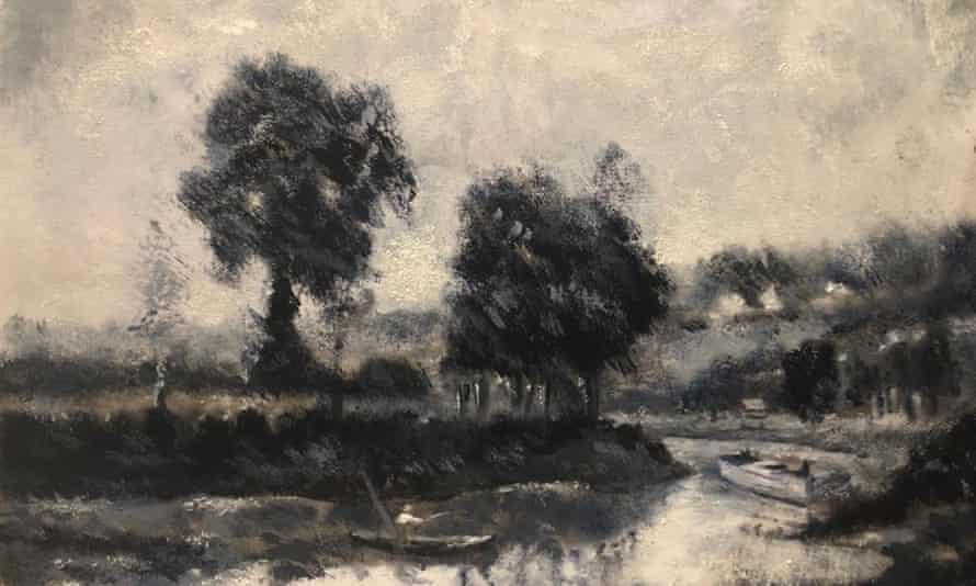 Stevenson's painting of the estuary in Suffolk near where she lives.