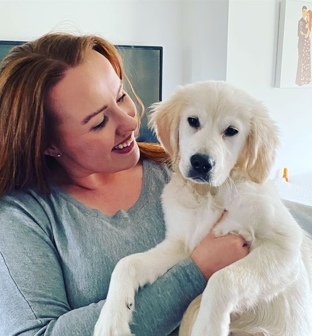 Chloe Carmichael with her dog
