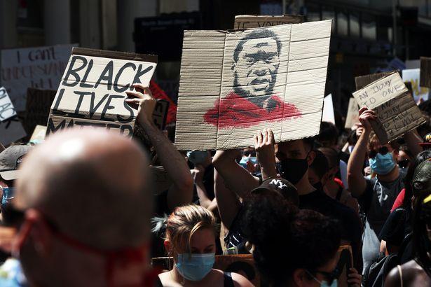 A Black Lives Matter protest in Brighton
