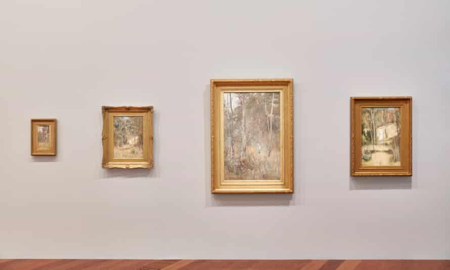 Installation view of She-Oak and Sunlight: Australian Impressionism.