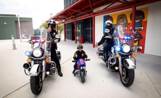 Jeremiah Valera with motorbike cops