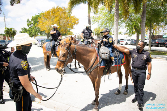 Jeremiah Valera on a North Miami Police Department horse.