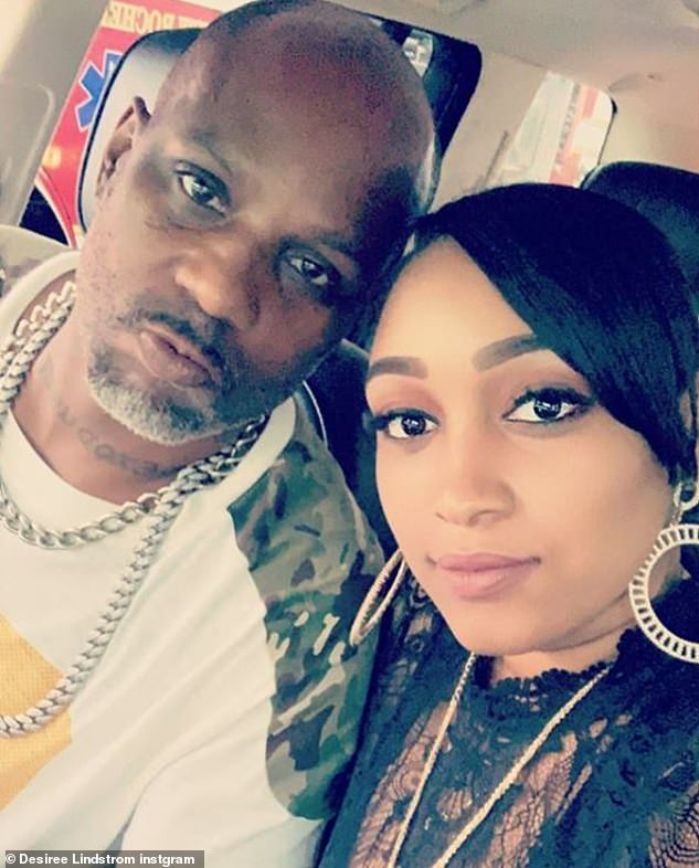 A lot of family: DMX, is famously a father of 15. He is pictured above with Desiree Lindstrom, who gave birth to his youngest child in 2016