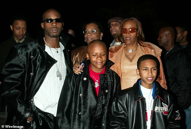 Beloved father: TMZ reported Monday that some of DMX's 15 children are visiting him in the hospital for what is thought to be 'a final goodbye'