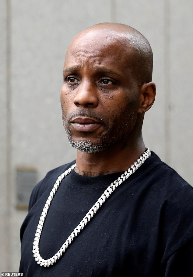 Testing: DMX underwent a series of tests Wednesday to determine how much brain function and activity he has' as he clings to life following recent heart attack; DMX pictured in 2017