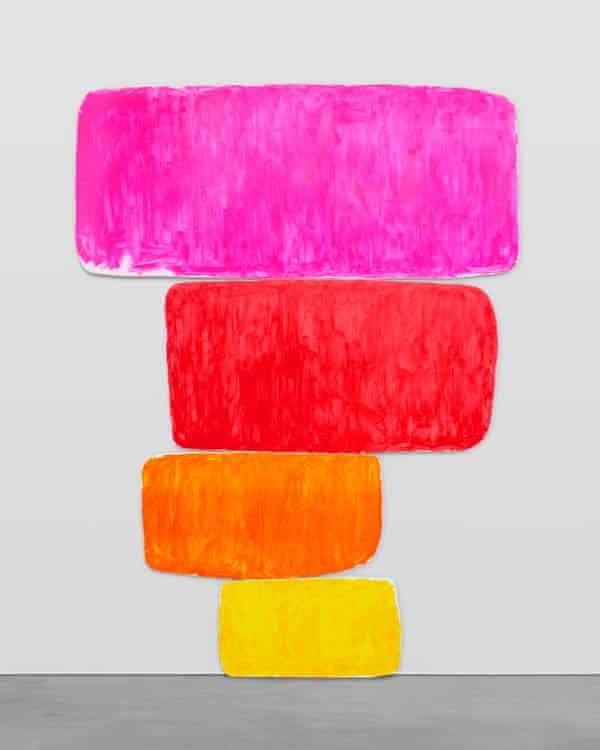 Ugo Rondinone's dreiundzwanzigsterjanuarzweitausendundeinundzwanzig, 2021, accompanied by Perspex plaque oil on canvas, Perspex plaque overall: 528.3 x 386.1 x 5.1 cm / 208 x 152 x 2 in.