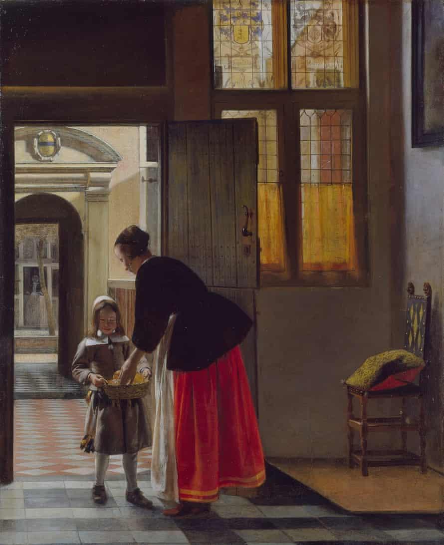 A boy bringing bread