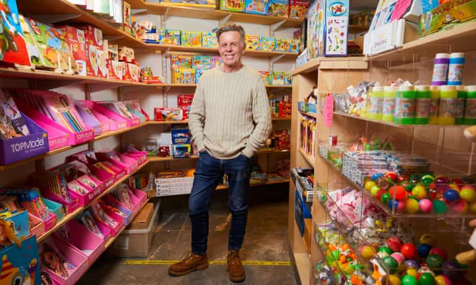 Bill Deakin, inside Silly Billy's toyshop in Hebden Bridge, West Yorkshire.