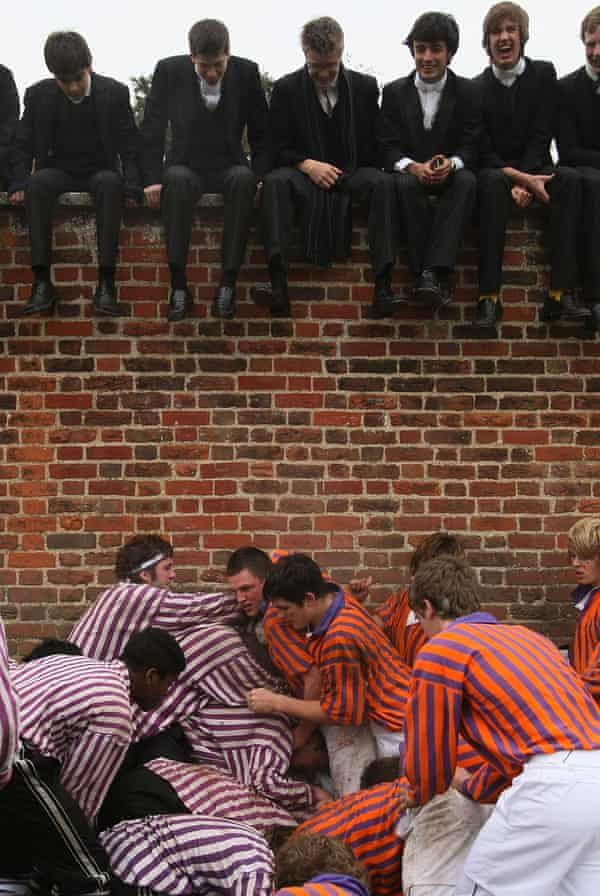 The Eton 'Wall Game' played on St Andrew's Day.
