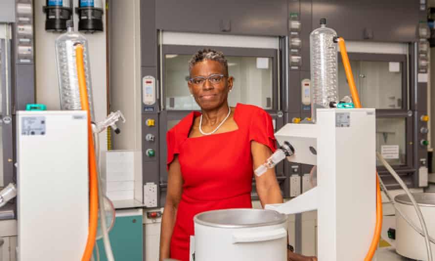 Prof Ijeoma Uchegbu at one of UCL's labs.