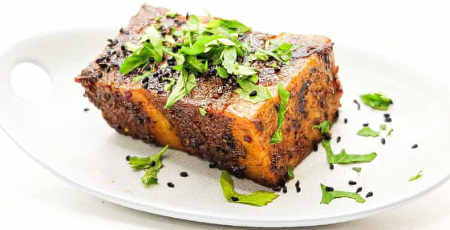 Glazed 'pork' belly by Faux, one of up to 15 lines on offer at the shop.