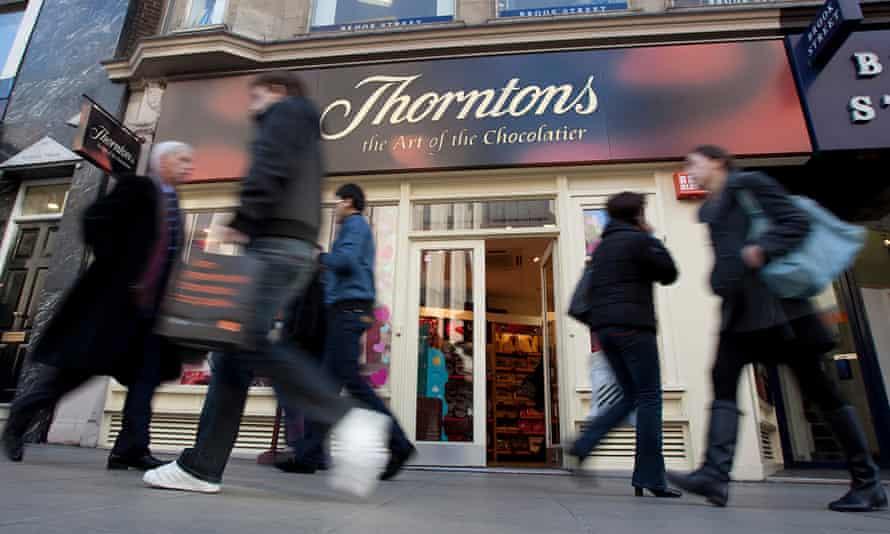 External shot of a Thorntons store.