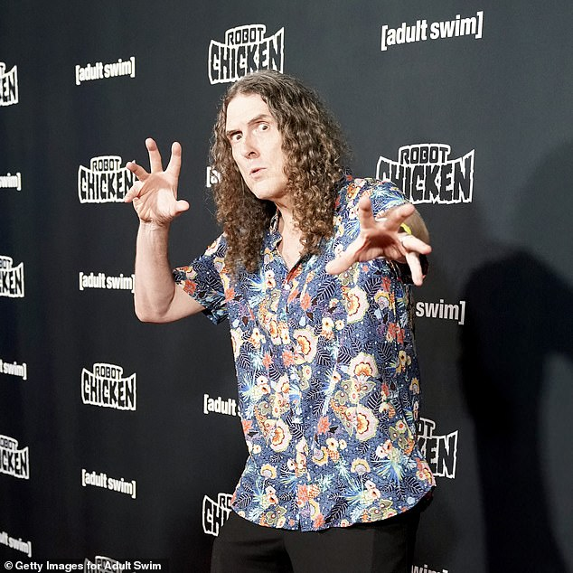 Favourite: Adam went on to say that one of his favourite guests was Weird Al Yankovic, who he 'idolised'