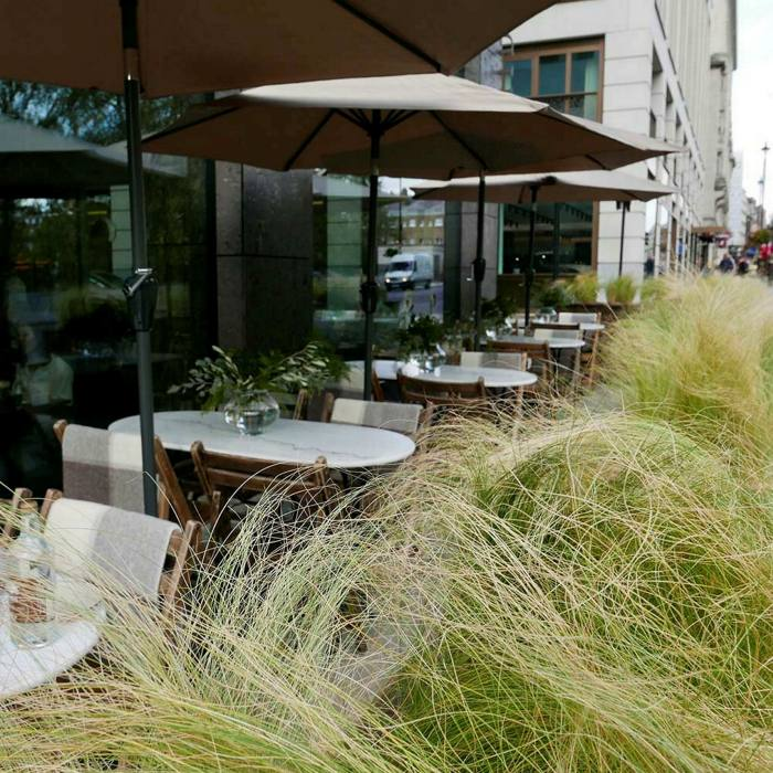 Perfect for people-watching: the terrace at Hide