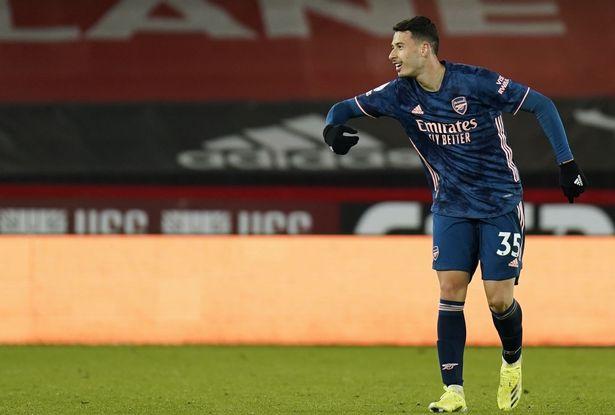 Martinelli scored against Sheffield United.